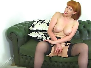 English milf Red teases us...